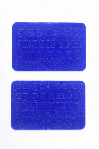 Ultimakes 2-in-1 Silicon Design Mat Alphabet - Ample